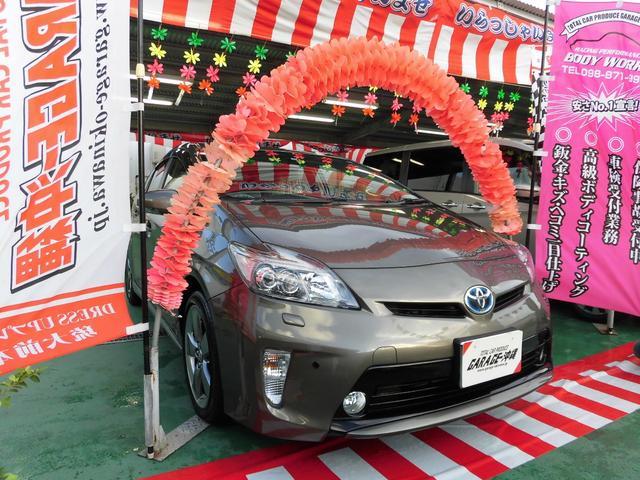 沖縄県の中古車ならプリウス 18SツーリングマイコーHDDナビLED・レザー禁煙車