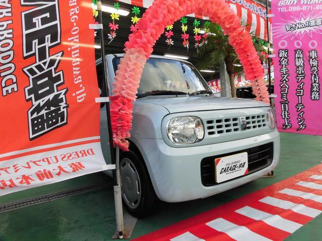沖縄の中古車 スズキ アルトラパン 車両価格 55万円 リ済込 2012(平成24)年 5.6万km ライトブルー