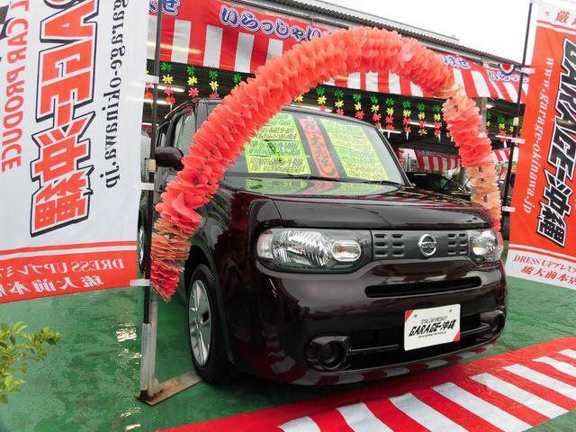 沖縄の中古車 日産 キューブ 車両価格 69万円 リ済込 2017(平成29)年 6.8万km ブラウンM