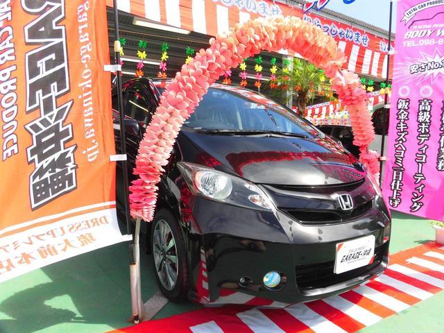 沖縄の中古車 ホンダ フリード 車両価格 39万円 リ済込 2008(平成20)年 9.0万km ブラックM