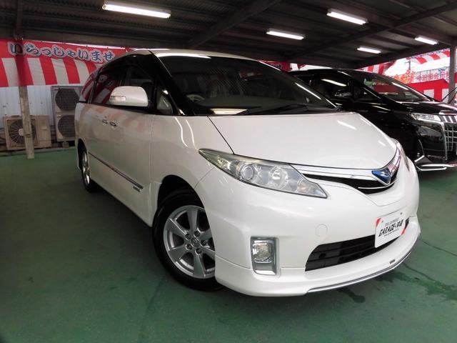 沖縄県の中古車ならエスティマハイブリッド 2.4G HDDナビ&フルセグ フロント&サイド&リアカメラ