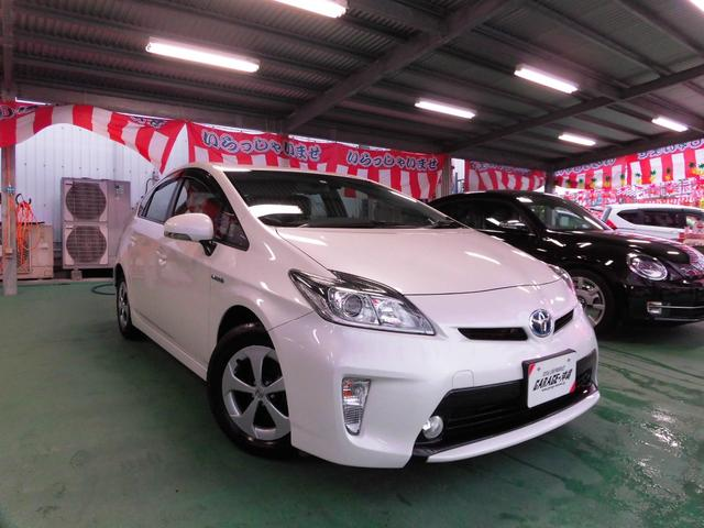 沖縄県の中古車ならプリウス 1.8G SDナビ&フルセグ・キセノン・ハーフレザー