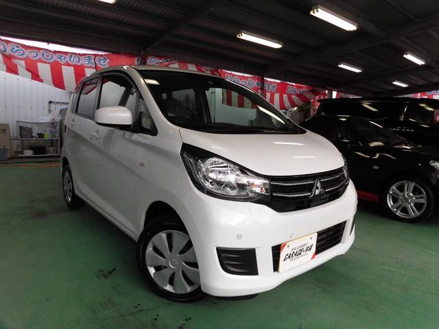 沖縄の中古車 三菱 eKワゴン 車両価格 85万円 リ済込 2019(平成31)年 1.6万km パールホワイト