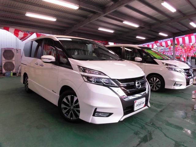 沖縄県の中古車ならセレナ ハイウェイスター Vセレクション ナビ・LED・ツインパワードア・バックカメラ エアロVr