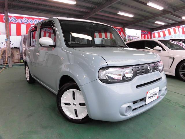 沖縄県の中古車ならキューブ 15X Vセレクション ・純正SDナビ&フルセグ・ホワイトルーフVr後期モデル