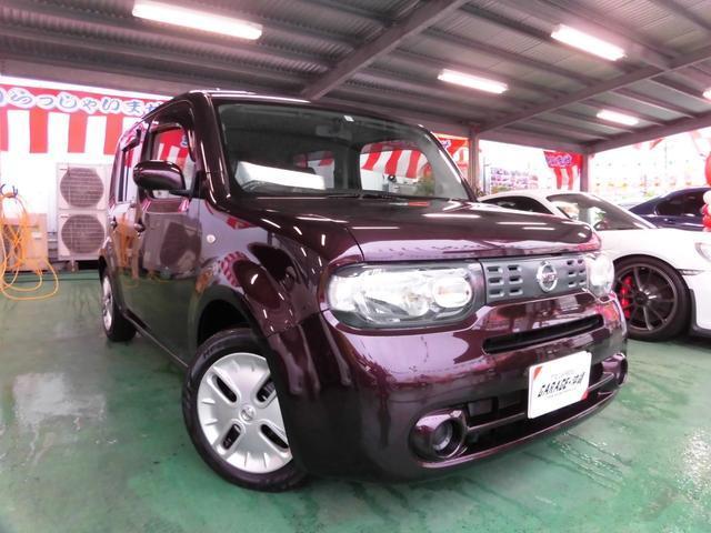 沖縄の中古車 日産 キューブ 車両価格 49万円 リ済込 2011(平成23)年 7.1万km ブラウン