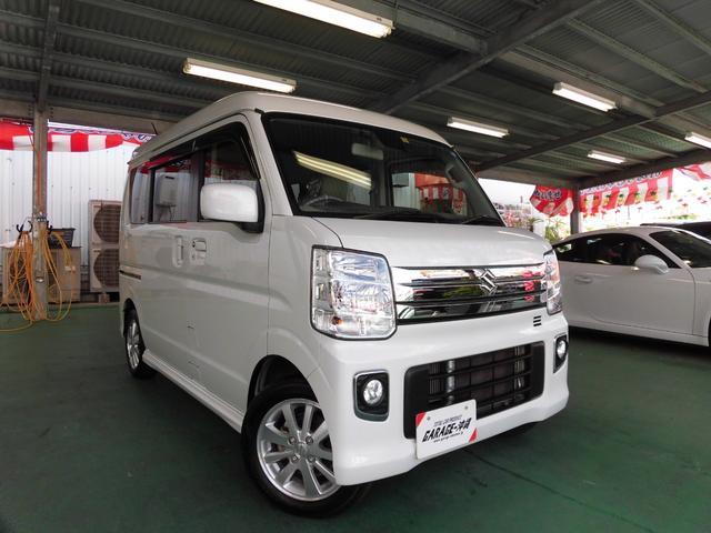 沖縄県の中古車ならエブリイワゴン PZターボ ・LEDライト・パワードア・エアロVr禁煙車