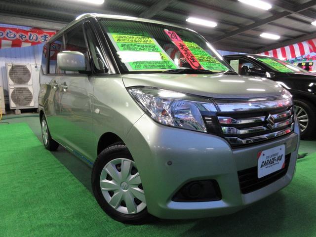 沖縄の中古車 スズキ ソリオ 車両価格 79万円 リ済込 2017(平成29)年 6.6万km Lグリーン