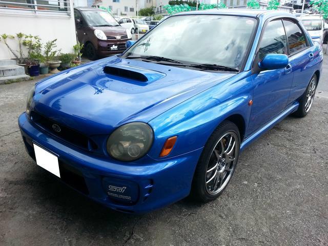 沖縄の中古車 スバル インプレッサ 車両価格 95万円 リ済込 平成12年 14.1万km ブルーM