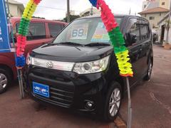 沖縄の中古車 スズキ ワゴンRスティングレー 車両価格 64万円 リ済込 平成25年 7.6万K ブラック