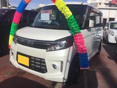 沖縄の中古車 スズキ スペーシアカスタム 車両価格 104万円 リ済込 平成27年 7.0万K パール