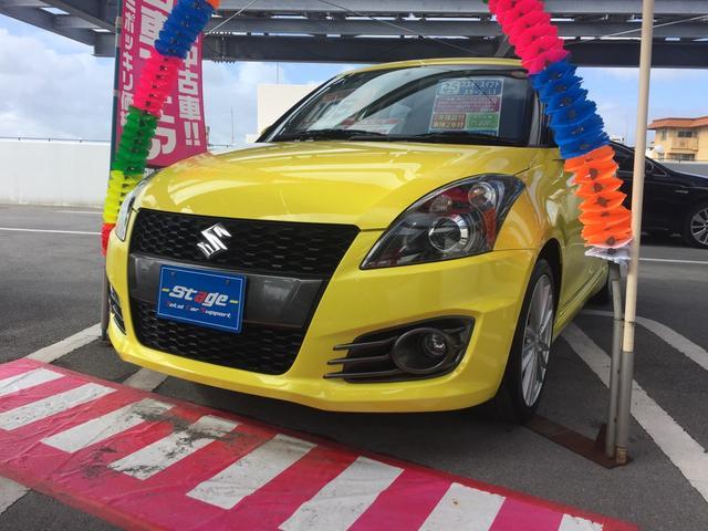 沖縄の中古車 スズキ スイフトスポーツ 車両価格 88万円 リ済込 平成25年 3.5万km イエロー
