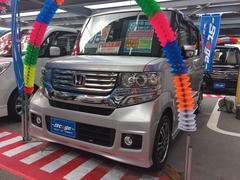 沖縄の中古車 ホンダ N BOXカスタム 車両価格 99万円 リ済込 平成25年 4.5万K シルバー