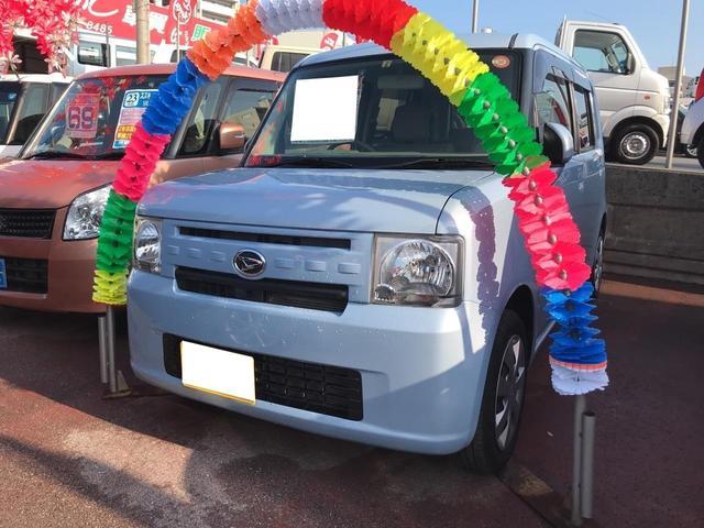 沖縄の中古車 ダイハツ ムーヴコンテ 車両価格 64万円 リ済込 平成25年 3.5万km ライトブルー