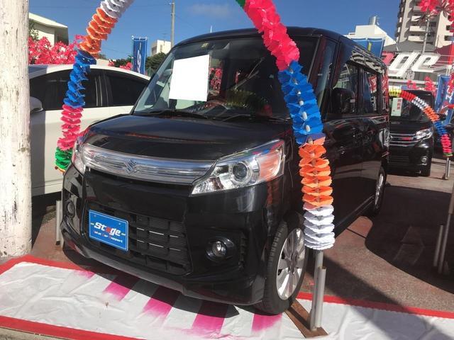 沖縄の中古車 スズキ スペーシアカスタム 車両価格 93万円 リ済込 平成26年 2.5万km ブラック