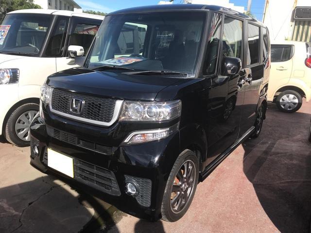 沖縄の中古車 ホンダ N BOX 車両価格 105万円 リ済込 平成25年 7.2万km ブラック