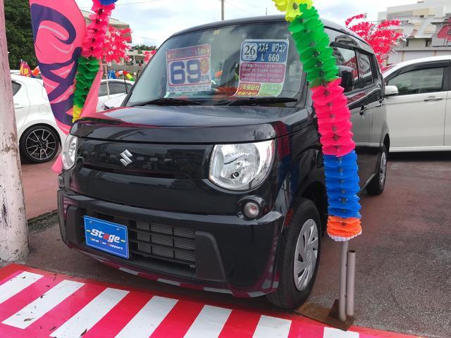 沖縄の中古車 スズキ MRワゴン 車両価格 64万円 リ済込 平成26年 5.1万km ブラック