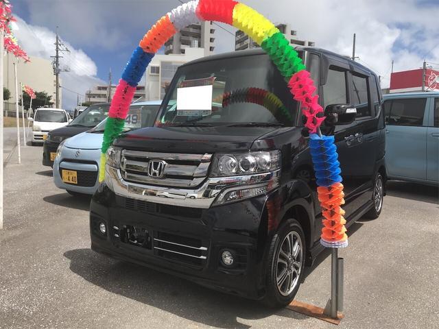 沖縄県の中古車ならN-BOXカスタム G・Lパッケージ 軽自動車 ETC クリスタルブラックパール