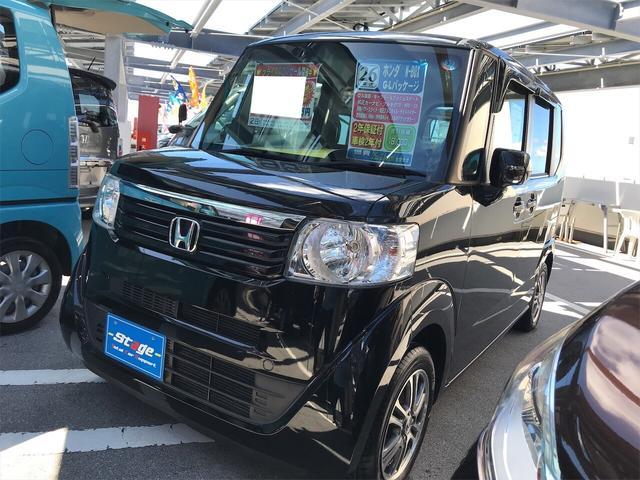 沖縄の中古車 ホンダ N-BOX 車両価格 89万円 リ済込 2014(平成26)年 1.8万km ブラック