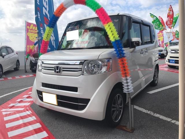 沖縄の中古車 ホンダ N-BOX 車両価格 102万円 リ済込 2016(平成28)年 2.9万km ホワイト