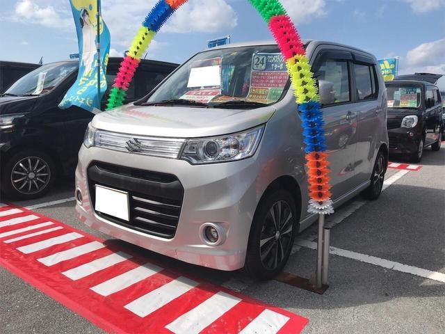 沖縄県の中古車ならワゴンRスティングレー T Iストップ ベンチシート インテリキー キーフリー AC
