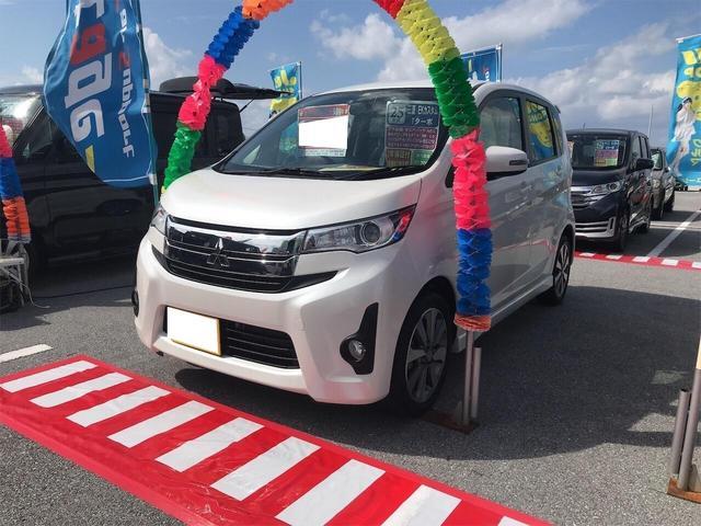 沖縄県の中古車ならeKカスタム T ターボ キーレス インテリキー ベンチシート AC