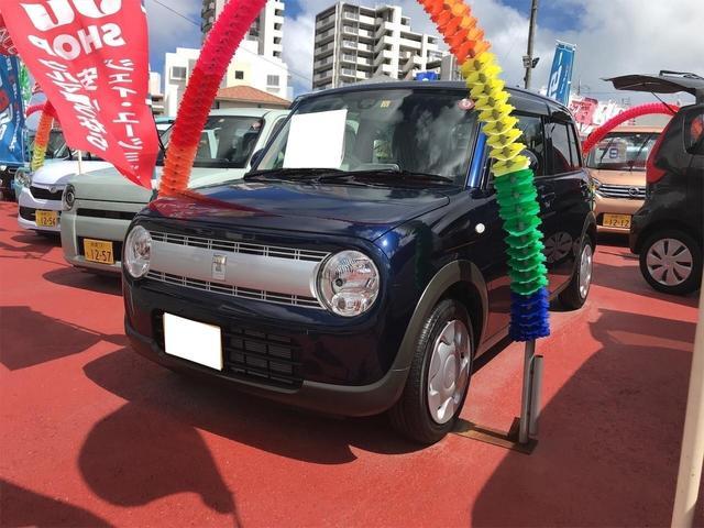 沖縄の中古車 スズキ アルトラパン 車両価格 92万円 リ済込 2018(平成30)年 0.4万km ノクターンブルーパール