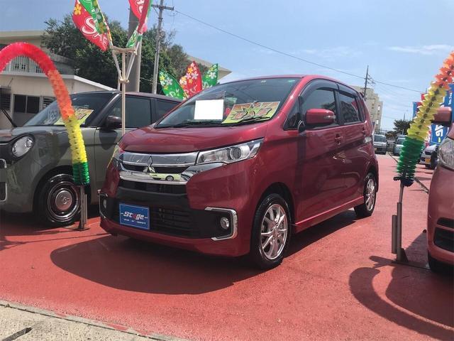 三菱 eKカスタム Gセーフティパッケージ スマートキー サポカーS シートヒーター