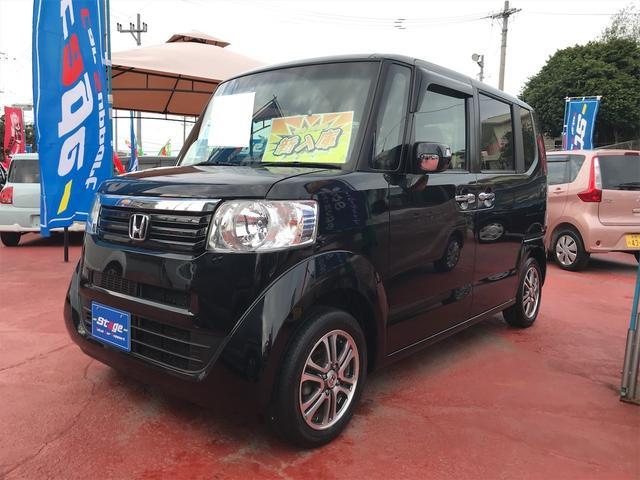 沖縄の中古車 ホンダ N-BOX 車両価格 79万円 リ済込 2013(平成25)年 7.5万km クリスタルブラックパール