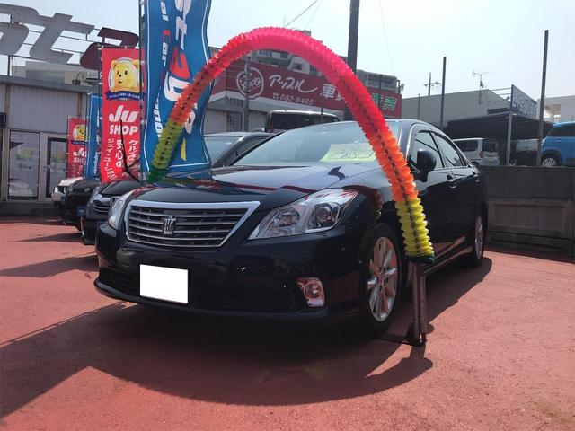 沖縄の中古車 トヨタ クラウン 車両価格 88万円 リ済込 2012(平成24)年 10.6万km ダークブルー