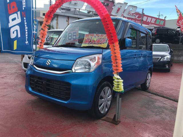 沖縄の中古車 スズキ スペーシア 車両価格 79万円 リ済込 2017(平成29)年 0.5万km ブルー