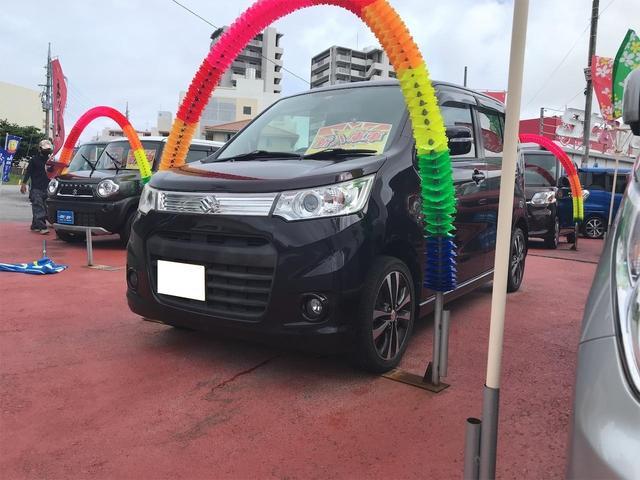 沖縄の中古車 スズキ ワゴンRスティングレー 車両価格 59万円 リ済込 2013(平成25)年 8.0万km パープル