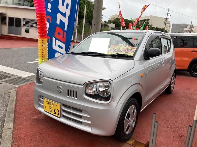 沖縄の中古車 スズキ アルト 車両価格 52万円 リ済込 2017(平成29)年 3.6万km シルバー