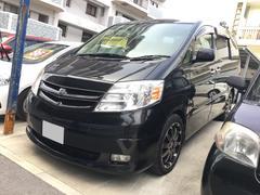 沖縄の中古車 トヨタ アルファードハイブリッド 車両価格 68万円 リ済込 平成17年 17.6万K ブラック