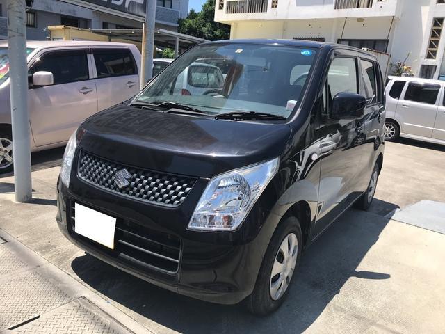 沖縄の中古車 スズキ ワゴンR 車両価格 38万円 リ済込 2011(平成23)年 6.2万km ブルーイッシュブラックパール3