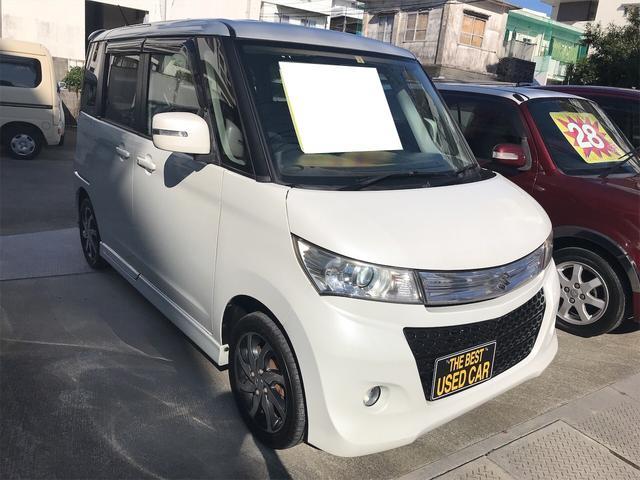 沖縄県浦添市の中古車ならパレットSW パールホワイト CVT AC AW オーディオ付