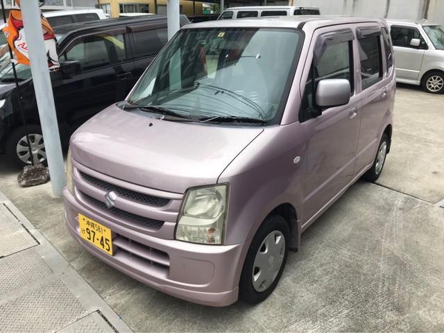 沖縄の中古車 スズキ ワゴンR 車両価格 18万円 リ済込 2006(平成18)年 11.2万km ピンクM