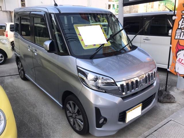 沖縄県浦添市の中古車ならeKスペースカスタム カスタムT eアシスト両側パワースライドTVナビバックカメラ