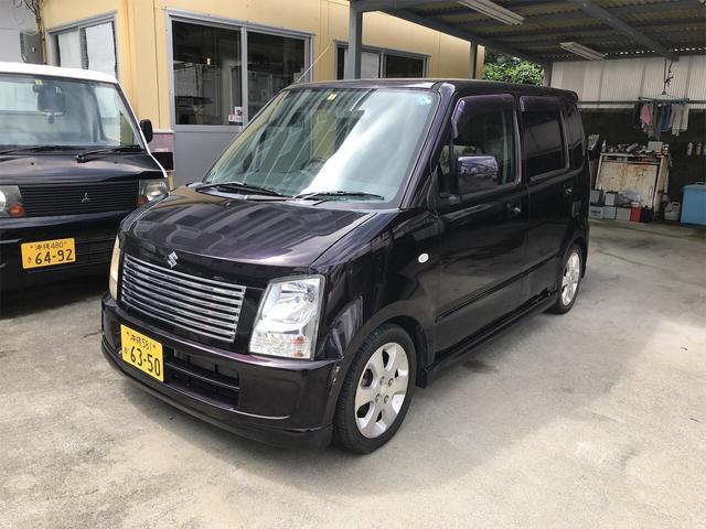 沖縄の中古車 スズキ ワゴンR 車両価格 18万円 リ済込 2007(平成19)年 13.0万km ブラック