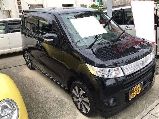 沖縄の中古車 スズキ ワゴンRスティングレー 車両価格 46万円 リ済込 2012(平成24)年 8.0万km ブルーイッシュブラックパール3