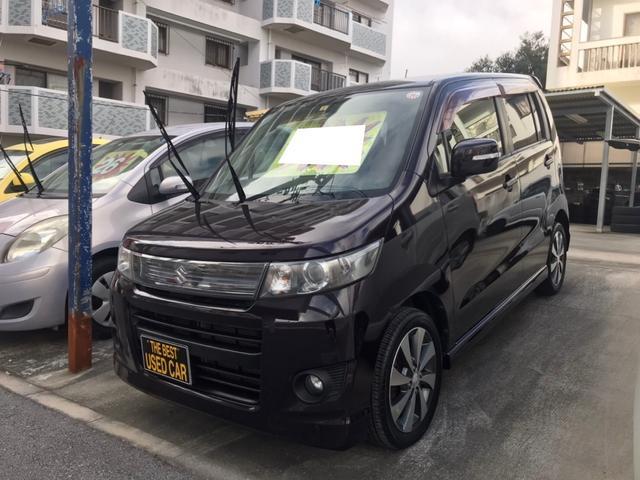 沖縄の中古車 スズキ ワゴンRスティングレー 車両価格 48万円 リ済込 2012(平成24)年 7.0万km ダークパープル