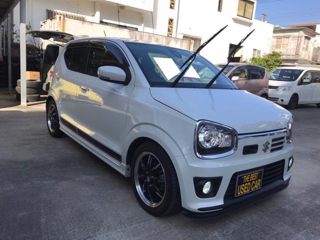 沖縄の中古車 スズキ アルトターボRS 車両価格 106万円 リ済込 2015(平成27)年 6.1万km ホワイト