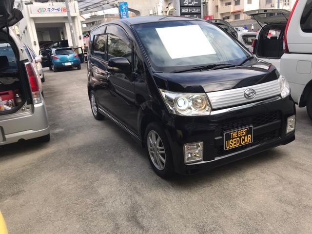 沖縄の中古車 ダイハツ ムーヴ 車両価格 34万円 リ済込 2010(平成22)年 12.1万km ブラック