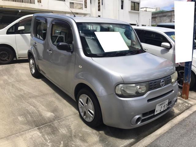 沖縄の中古車 日産 キューブ 車両価格 18万円 リ済込 2010(平成22)年 16.9万km シルバー