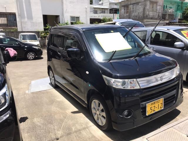 沖縄の中古車 スズキ ワゴンRスティングレー 車両価格 36万円 リ済込 2010(平成22)年 11.2万km ブルーイッシュブラックパール3
