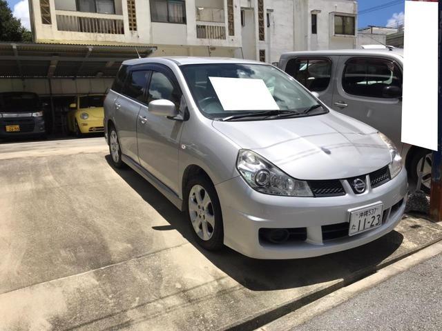 沖縄県浦添市の中古車ならウイングロード 15M Vリミテッド AW CVT オーディオ付 HID スマートキー AC