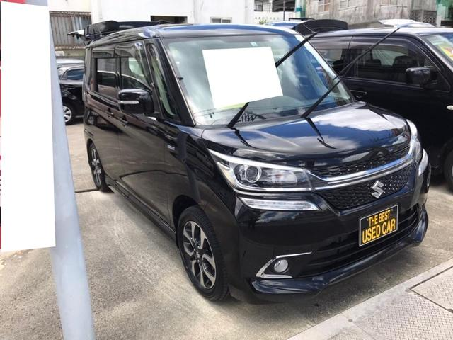 沖縄の中古車 スズキ ソリオバンディット 車両価格 132万円 リ済込 2018(平成30)年 6.7万km スーパーブラックパール