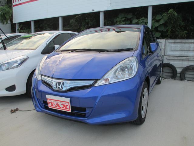 沖縄の中古車 ホンダ フィットハイブリッド 車両価格 89万円 リ済込 平成24年 6.6万km ブルー