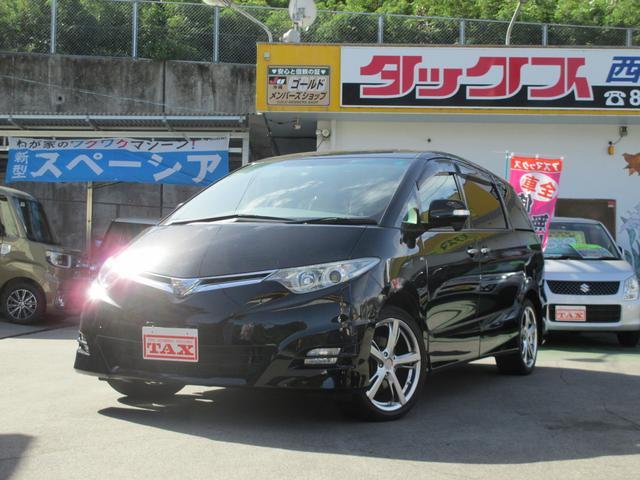 沖縄の中古車 トヨタ エスティマ 車両価格 99万円 リ済込 平成20年 9.9万km ブラック