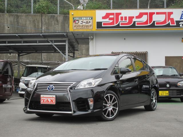 沖縄の中古車 トヨタ プリウス 車両価格 169万円 リ済込 平成26年 7.4万km ブラック